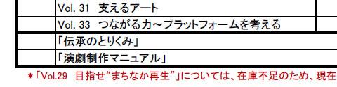 「地域創造発行物送付申込書」(2014年11月時点)(部分)